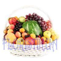 Basket with watermelon