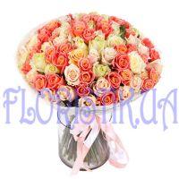 Букет 101 пастельной розы