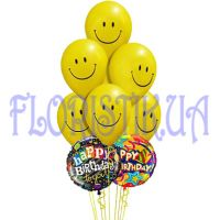 Foil balloons with smiley