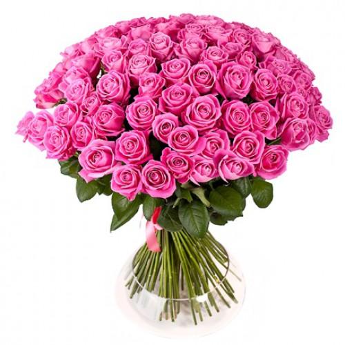 Букет 75 рожевих троянд ― Floristik — інтернет-магазин доставки ...